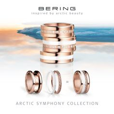 Rings for women; Arctic Symphony Collection; BERING; Twist & Change