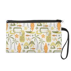 #handbag #bag #midcentury #midmod #mcm #modern #retro #atomic #tropical #tiki #hawaiian #hawaii #summer #beach #vacations #aloha #miavaldez #zazzle