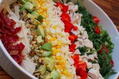 Imperfect Polish: Summer Chopped Salad with Buttermilk Ranch Dressin...
