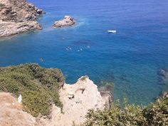 Panoramic view of the gorgeous Karavostasi beach gulf in Bali, Rethymno, Crete-Greece