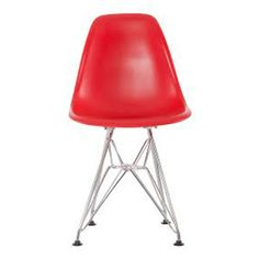FIVEMORE | Eames Inspired Eiffel Kids Chair in Red - Furniture - 5rooms.com