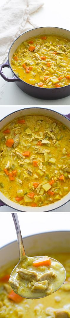 Chicken Mulligatawny Soup Substitute for Simply Filling 1 1/4 pound chicken breasts 1/2 c brown rice 1/4c ff half n half 1/4 cup plain yogurt