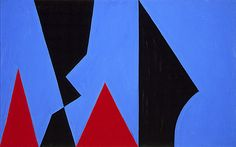 Lorser Feitelson (United States, Georgia, Savannah, 1898 - 1978), Magical Space Forms, No. 12, 1951, Painting, Oil on masonite, Gift of Mrs. June Wayne (M.62.60.12), LACMA.