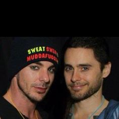 The Leto bros totally look like they're up to something.