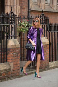 PURPLE HAZE ~ Burberry metallic coat ~Carmen Negoiță