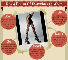dos and donts of essential leg wear