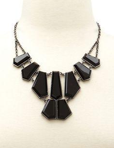Geo Stone Bib Necklace: Charlotte Russe