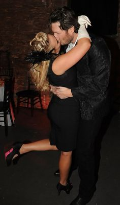 Blake Shelton and Miranda Lambert always have their hands on each other.