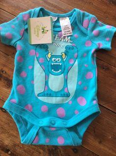 Disney Monsters Inc Sully Baby Girl Onesie Romper BrandNew Tag Size 0000 Newborn