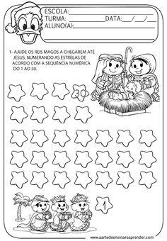Matemática Infantil Atividade Ordem Crescente 1 A 30 Matemática