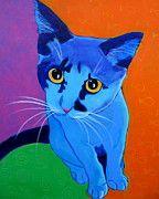 Cat Art - Cat - Kitten Blue by Alicia VanNoy Call