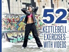 Discover 52 Kettlebell Exercises along with videos and images that will change the way you look and feel. The kettlebell exercises are listed from easiest to hardest so you can progress logically and safely for maximum results. | Posted By: CustomWeightLossProgram.com