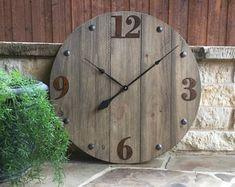Rustic Wall Clock, Reclaimed Barn Wood, Large Wall Clock, Oversized wall clock, Farmhouse clock, Big Clock, Wood Clock, Large clock