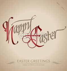 Vector: 'happy easter' hand lettering (vector) #download #stock #StockImages #microstock #royaltyfree #vectors #calligraphy #HandLettering #lettering #design #letterstock #silhouette #decor #printable #printables #craft #diy #card #cards #label #tag #sign #vintage #typography