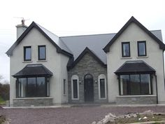 ICYMI: two storey house designs ireland Dormer House, Dormer Bungalow, Bungalow House Plans, Dream House Plans, Bungalow Renovation, House Designs Ireland, Cool House Designs, Modern House Design, Style At Home