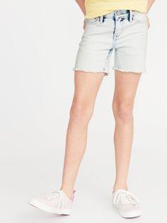 Old Navy Girls' Acid-Wash Denim Midi Shortss Acid Wash Size 16 Cute Shorts, Casual Shorts, Casual Outfits, Sport Outfits, Girl Outfits, Old Navy Girls, Shop Old Navy, Girls Jeans, Short Girls