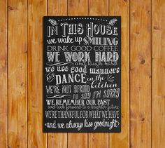 In This House Printable Art Print 24 x 36 Engineer by dodidoodles, $7.50