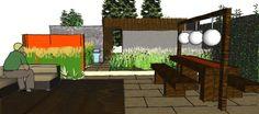 drawing Family Garden Design North London