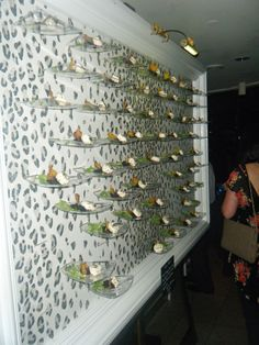 Plate Wall (of salads).  Catersource 2012 - Catering By Design