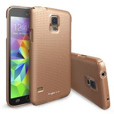 Galaxy S5 Case, Ringke SLIM Case [Free HD Film][DOT-COPPER GOLD] Full Top and Bottom Coverage Premium Dual Coated Hard Case for Samsung Galaxy S5 - Eco Package Rearth http://www.amazon.com/dp/B00KIUFZ6Q/ref=cm_sw_r_pi_dp_oHc4tb0H7M56P0DT