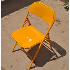 The Commercial Quality Yellow Industrial Iron Folding Chair is constructed totally from iron. This commercial grade chair is built to look good and perform.