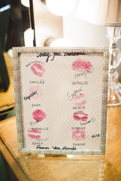 from nia's wedding - what a cute souvenir from the bridesmaids to the bride!