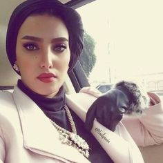 elegant-turban-hijab- How to accessorize your hijab in winter http://www.justtrendygirls.com/how-to-accessorize-your-hijab-in-winter/