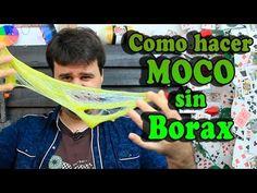 Como hacer moco o slime sin borax (100% casero) - YouTube