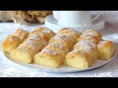 Vanil krem štrudla - odličan recept od gotovih kora - YouTube