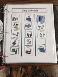 Student daily picture schedules.