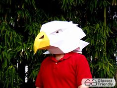 Eagle Mask - Make Your Own Eagle with just Paper and Glue! | Paper Mask | DIY Mask | Mascot | Halloween Mask door TetraVariations op Etsy https://www.etsy.com/nl/listing/265238031/eagle-mask-make-your-own-eagle-with-just