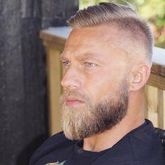Grow with care, wear with pride 😎 Viking Beard Styles, Hair And Beard Styles, Van Dyke Beard, Badass Beard, Mustache Styles, Blue Eyed Men, Hair Setting, Beard Trimming, Classy Men