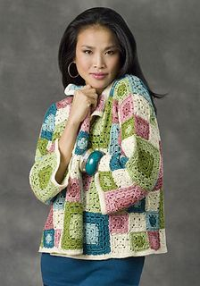 Crochet this gorgeous Tulsa jacket to add to your wardrobe with the free pattern. Crocheting is one of the cheapest ways these days of filling out your war Gilet Crochet, Crochet Coat, Crochet Jacket, Crochet Cardigan, Crochet Shawl, Crochet Clothes, Crochet Squares, Crochet Granny, Free Crochet