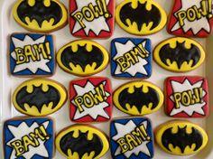 "Batman cookies party favors Galletas para fiesta tema ""Batman"""