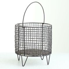 Iron Mesh Basket - Wisteria  Perfect for housing homemade breads! #dukesculinaryservices