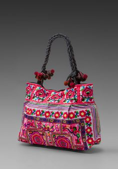 Indah Lulu Hill Tribe Traditional Embroidered Bag in White