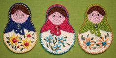 Matrioshka- Crochet Pattern (Applique).  via Etsy.