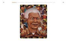 Nelson Mandela, illustration by Marc Burckhardt