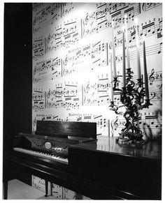 Sheet music wall paper