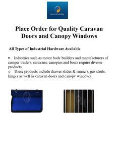 Place Order for Quality Caravan Doors and #CanopyWindows : http://goo.gl/aQoG30