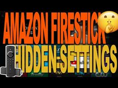 AMAZON FIRESTICK HIDDEN SETTINGS YOU NEED TO KNOW ABOUT | AMAZON FIRE TV - YouTube Tv Hacks, Netflix Hacks, Amazon Fire Stick, Amazon Fire Tv, How To Jailbreak Firestick, Tv Without Cable, Cable Tv Alternatives, Free Tv And Movies, Blue Yeti Usb