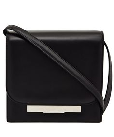 The Row Black leather shoulder bag from The Row #LibertyWomen