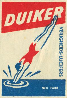 Dutch matchbox label
