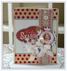 Retro Christmas Season Card - Scrapbook.com