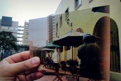 """El experimento de hacer """"foto sobre foto"""" es una herramienta que me llamó la atención, porque además de ser un ejercicio práctico, permite sacar y desempolvar muchas fotografías de antaño, para darles vida reconstruyendo la historia que tienen detrás. Como en estas imágenes logradas en la Universidad, el resultado es mágico, porque le dan un matiz particular y diversifican los ambientes tal como los conocemos.  Pensar la imagen Julian Bernal -1"""