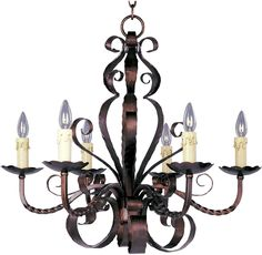 Maxim Lighting Aspen 6-Light Chandelier - Oil Rubbed Bronze