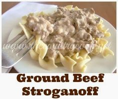The Country Cook: Ground Beef Stroganoff. I made this for dinner. Substituted garlic salt for salt and add plenty of garlic powder. -C