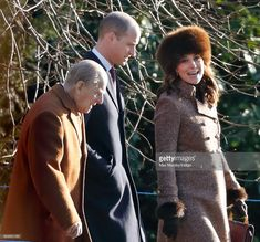 Prince Philip, Duke of Edinburgh, Prince William, Duke of Cambridge and Catherine, Duchess of Cambridge attend Sunday service at St Mary Magdalene Church, Sandringham on January 7, 2018 in King's Lynn, England.