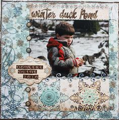 Snowfall! @Mireille Marchand Marchand Divjak #bobunny #scrapbooking