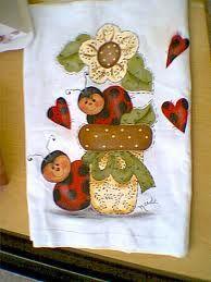 pintura country no tecido - Pesquisa Google